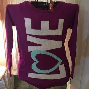 NWT Purple Love Sweatshirt